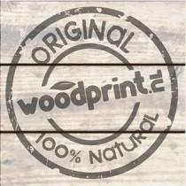 Woodprint foto op hout